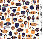 vector seamless pattern with... | Shutterstock .eps vector #490710622