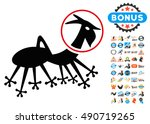 alien creature icon with 2017... | Shutterstock .eps vector #490719265