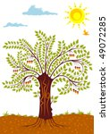 background with tree  sun and... | Shutterstock .eps vector #49072285