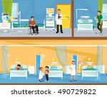 two floors of the hospital.... | Shutterstock .eps vector #490729822