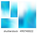 four abstract high resolution... | Shutterstock . vector #490740022