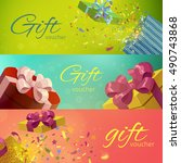 gift vouchers horizontal... | Shutterstock .eps vector #490743868