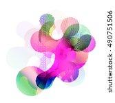 abstract vector background dot... | Shutterstock .eps vector #490751506