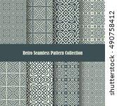 retro backgrounds celtic knot... | Shutterstock .eps vector #490758412