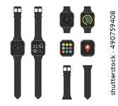 smart watches wearable... | Shutterstock .eps vector #490759408