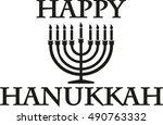 happy hanukkah with candleholder