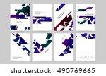 6 abstract geometric vector... | Shutterstock .eps vector #490769665