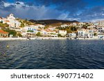 batsi village on the coast of... | Shutterstock . vector #490771402