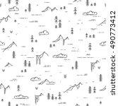 vector linear seamless pattern... | Shutterstock .eps vector #490773412
