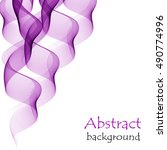 abstract purple background with ... | Shutterstock .eps vector #490774996