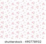 Stock vector cute floral pattern of small flowers ditsy print seamless vector texture elegant template for 490778932