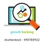 growth hacking ways how... | Shutterstock .eps vector #490785922