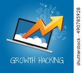 growth hacking ways how... | Shutterstock .eps vector #490785928