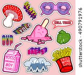 set of patches  stickers ... | Shutterstock .eps vector #490791976