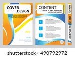 brochure design template vector.... | Shutterstock .eps vector #490792972