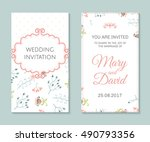 wedding set. romantic vector... | Shutterstock .eps vector #490793356