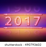 the 2017 new year symbol with... | Shutterstock .eps vector #490793602