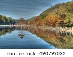 beavers bend state park in... | Shutterstock . vector #490799032