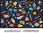 vector abstract illustration of ... | Shutterstock .eps vector #490809826