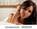 beauty on bed  18   Shutterstock . vector #4908109