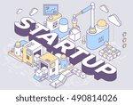 vector illustration of word... | Shutterstock .eps vector #490814026