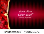 red abstract composition  event ... | Shutterstock .eps vector #490822672