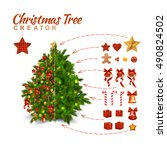christmas tree design... | Shutterstock .eps vector #490824502