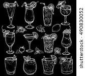 sketch cocktails  alcohol... | Shutterstock .eps vector #490830052