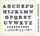 alphabet set design  vector... | Shutterstock .eps vector #490846102
