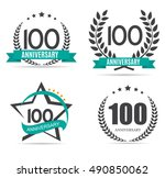 template logo 100 years... | Shutterstock .eps vector #490850062