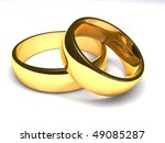 two golden rings | Shutterstock . vector #49085287