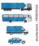 mockup vehicles for advertising ... | Shutterstock .eps vector #490855426