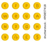 currency from different... | Shutterstock . vector #490857418