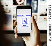 membership accept join us...   Shutterstock . vector #490884535