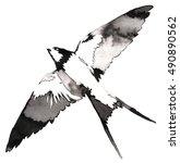 black and white monochrome... | Shutterstock . vector #490890562