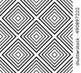 black and white linear... | Shutterstock .eps vector #490897222