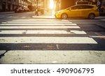 Focus On Pedestrian Lines In...
