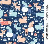 vector seamless pattern with... | Shutterstock .eps vector #490914232