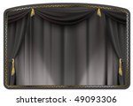 Theater Curtain Black Tied Wit...