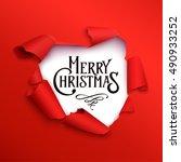 merry christmas banner in the... | Shutterstock .eps vector #490933252