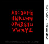 alphabet   number   handwriting ... | Shutterstock .eps vector #490937248