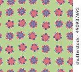 vector seamless pattern of... | Shutterstock .eps vector #490937692