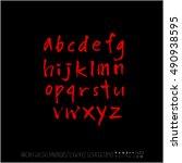 alphabet   number   handwriting ... | Shutterstock .eps vector #490938595