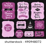 set of merry christmas and...   Shutterstock .eps vector #490948072