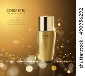splendid cosmetic product... | Shutterstock .eps vector #490956292