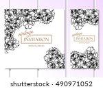 romantic invitation. wedding ... | Shutterstock .eps vector #490971052