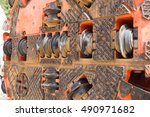 close up of tunnel boring... | Shutterstock . vector #490971682