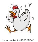 chicken scared | Shutterstock .eps vector #490973668