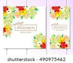 romantic invitation. wedding ... | Shutterstock .eps vector #490975462