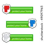 web banner with protection sign ...   Shutterstock .eps vector #49097965